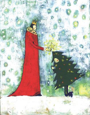 postcard「Tree and King」