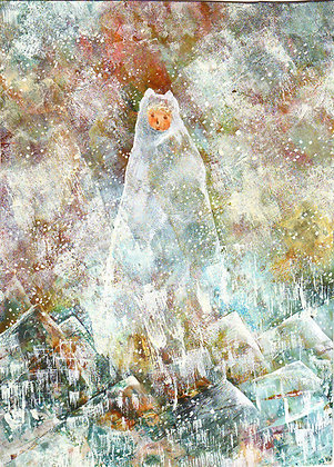 postcard「雪に佇むもの」