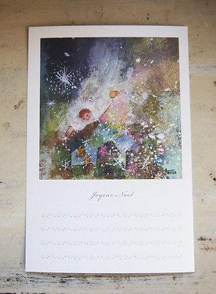 message card「joyeux noel」