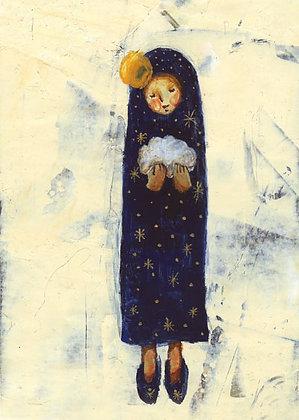 postcard「雲を抱く人」