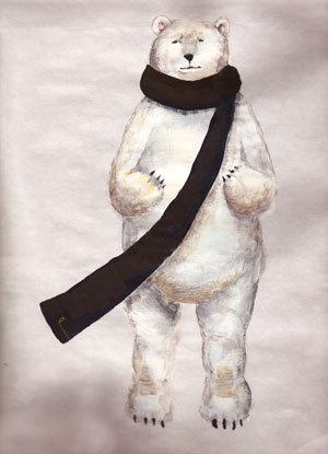 postcard「白クマ」