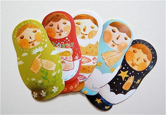 マトリョーシカ型カード5種