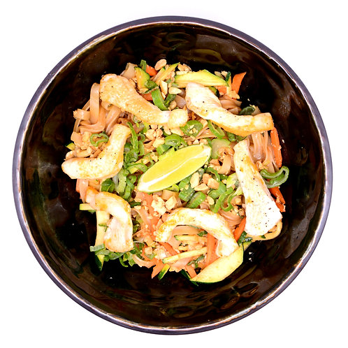 Stir-Fry Rice Noodles with chicken