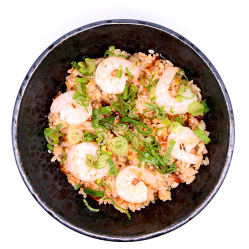 Friend rice with shrimps