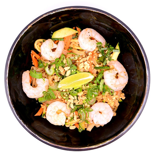 Stir-Fry Rice Noodles with shrimps