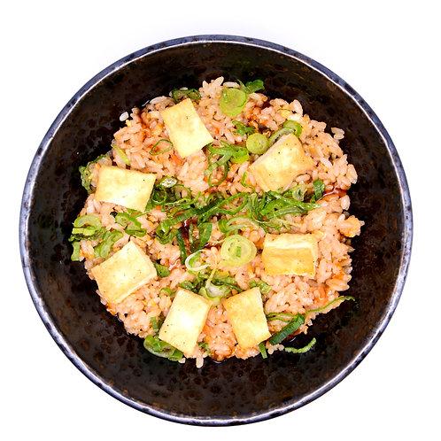 Fried rice with tofu and veggies