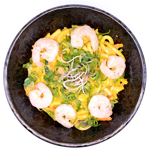 Curry Udon with shrimps