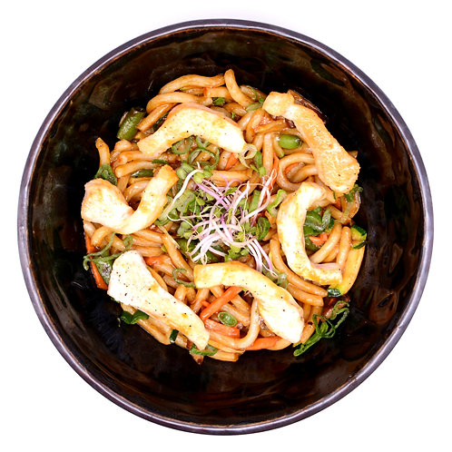 Stir Fry Udon Noodles with chicken
