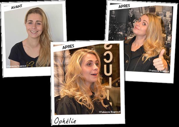 Relooking d'Ophélie, gagnante Chérie FM