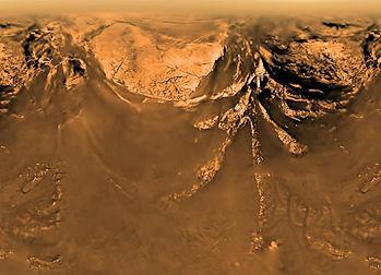 13. Поверхность Титана, снятая аппаратом