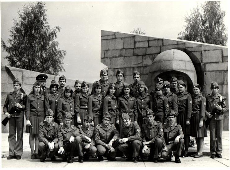 Отряд Почетного караула школы № 76.  г. Куйбышев, 1982 г.