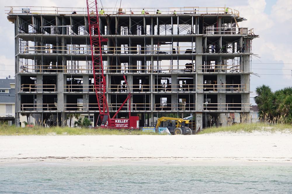 Beachfront building.  September 2017.
