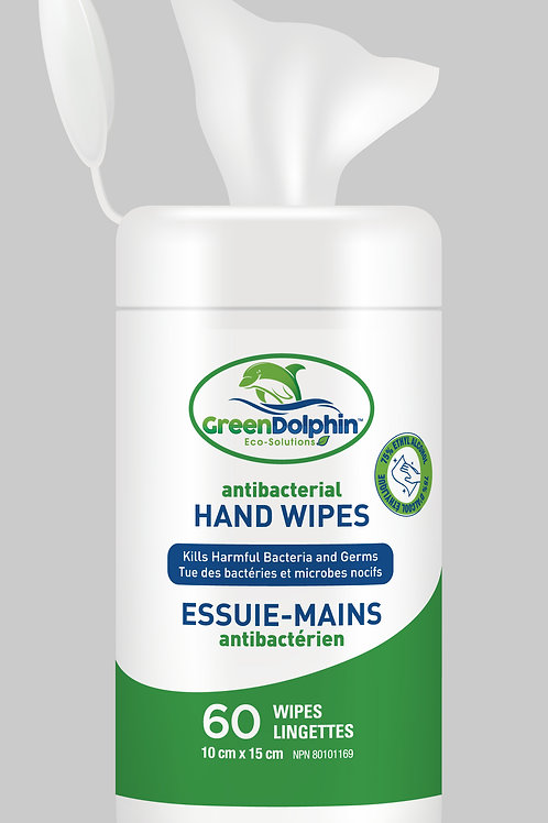 Antibacterial Hand Wipes 75% alcohol (60/canister) - COMING SOON