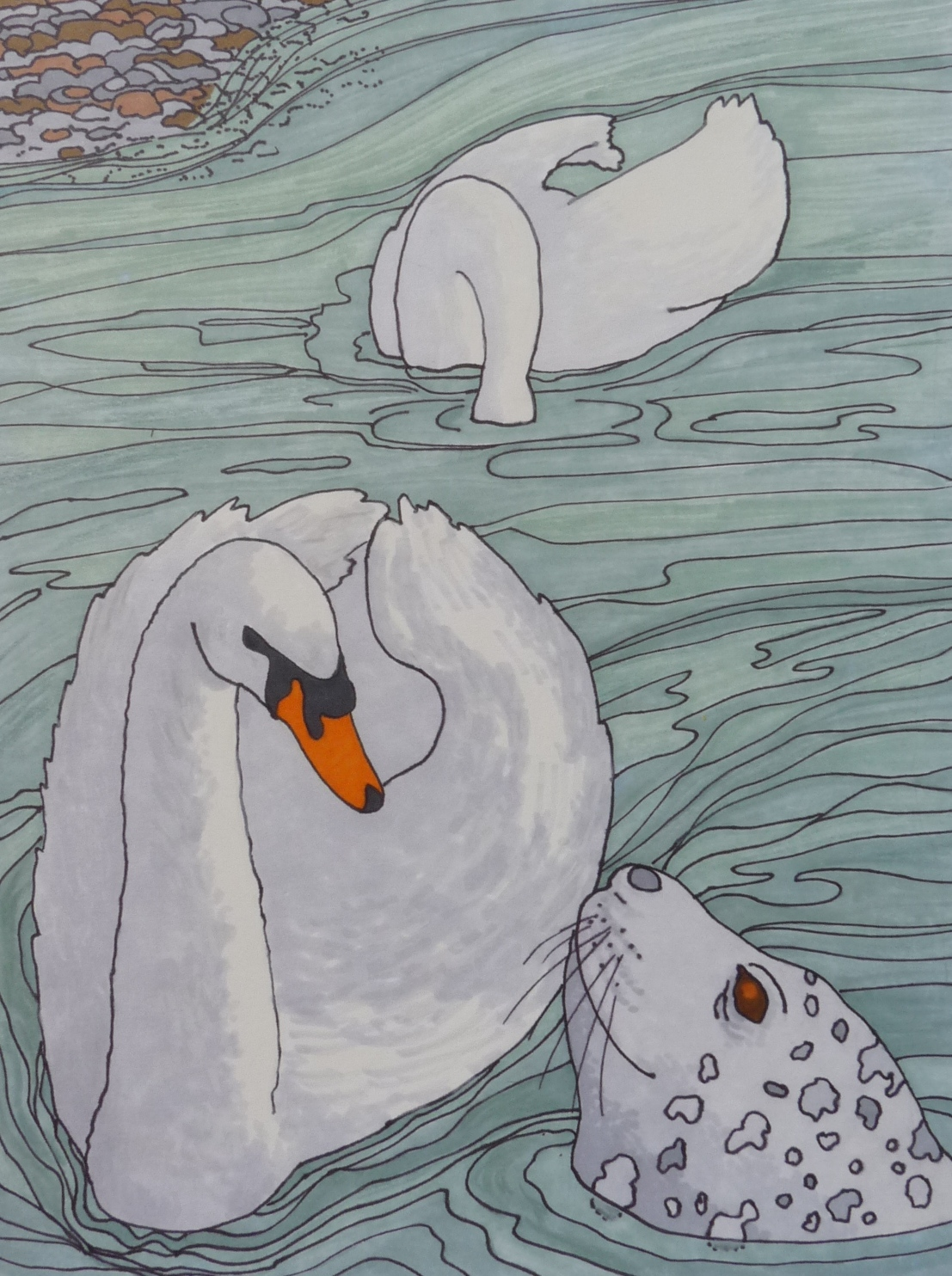 Josie and the swans