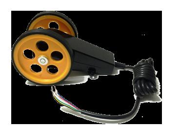Manivela kasnak kollu iki tekerlekli enkoder