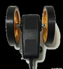 Tekerlekli enkoder numaratör kasnak manivela yaylı kollu aparat