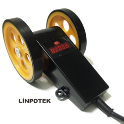 Tekerlekli enkoder manivela kasnak kollu encoder göstergeli