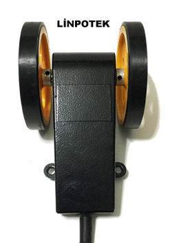 Tekerli enkoder aparatı manivela kolu aparatı