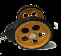 Tekerlekli boy metre enkoder kasnak manivela yaylı kollu aparat