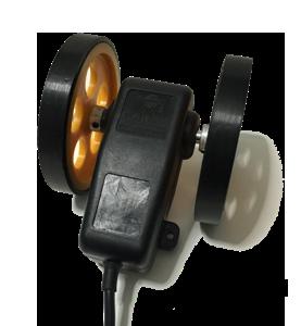 Tekerlekli artımsal encoder kasnak manivela yaylı kollu aparat