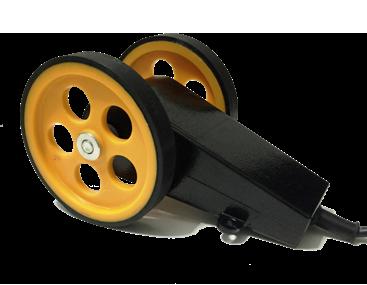çift tekerlekli enkoder kasnak manivela yaylı baskı kollu encoder