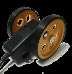 Tekerlekli kumaş metre enkoder kasnak manivela yaylı kollu aparat