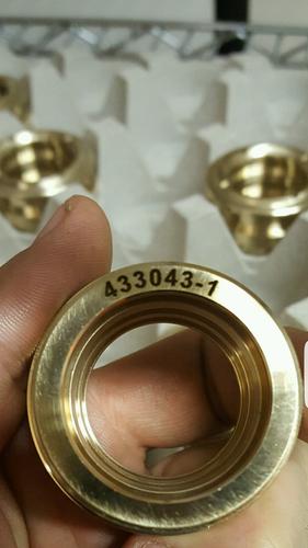 Laser Engraved Brass Parts - DelSpec Precision