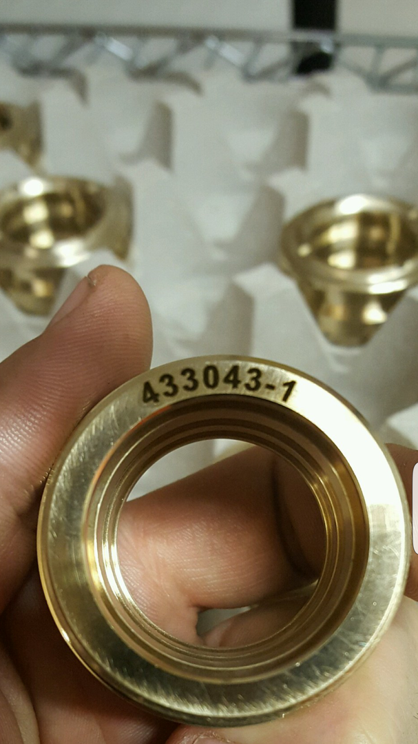 Laser Engraved Brass Parts - DelSpec Precision