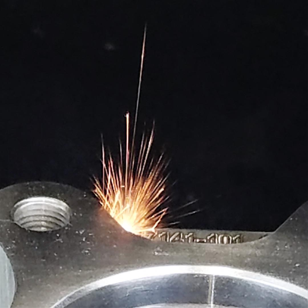 Laser Engraving Sparks - DelSpec Precisi