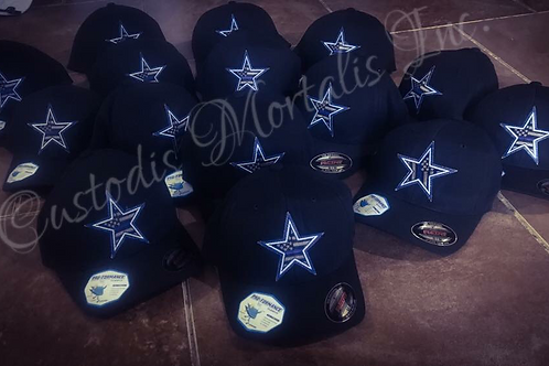 Thin blue line Dallas Star flex fit hat