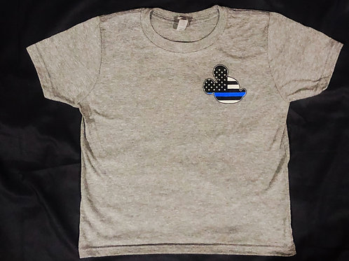 Youth Thin Blue Line Mouse (His)
