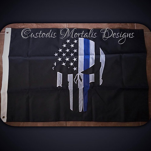 2x3 embroidered thin blue line flag
