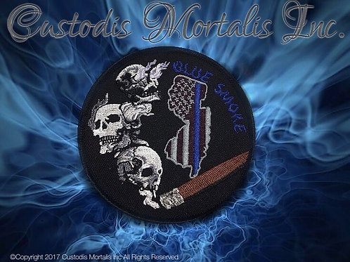 3 inch embroidered Velcro Blue Smoke NJ Patch