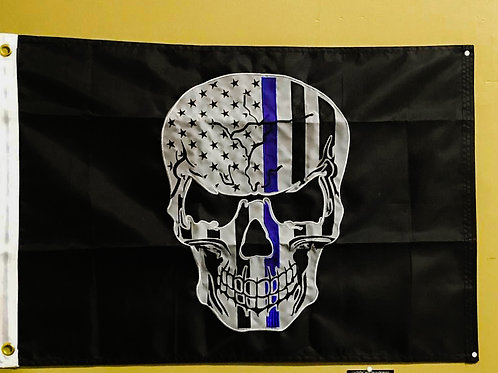 2x3 Thin Blue Line subdued flag