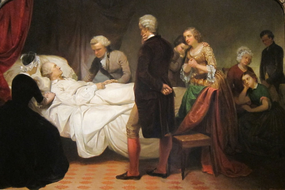George Washington on his deathbed