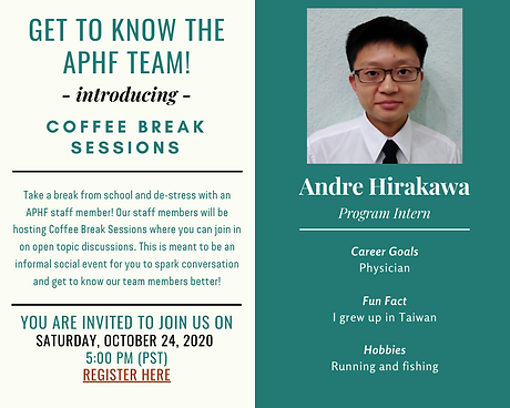 2020-10-24 - Andre's Coffee Break Sessio