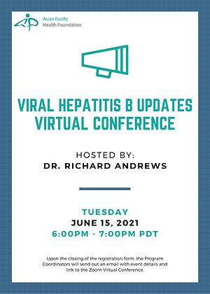 2021-06-15  Viral Hepatitis B Updates Dr