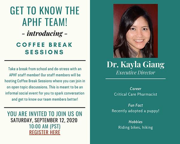 2020-09-12 - Kayla's Coffee Break Sessio