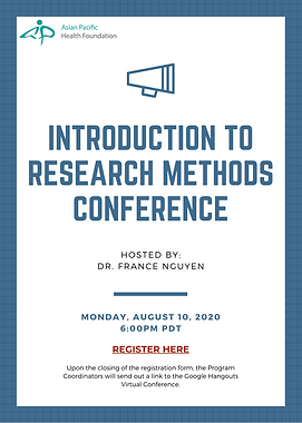 2020-08-10 Research Methods Virtual Conf