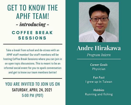 2021-04-24 - Andre's Coffee Break Sessio