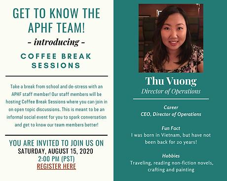 2020-08-15 - Thu's Coffee Break Session.