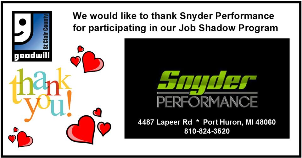 Snyder Job Shadow