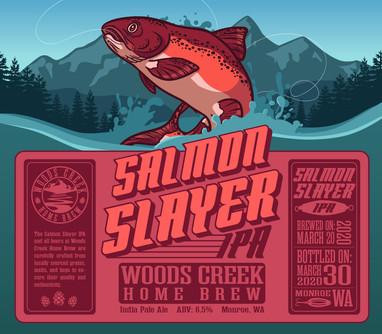 Salmon Slayer Beer Label