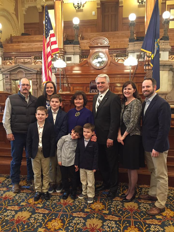 The Alley family at the swearing in.