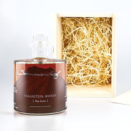 Traunstein-Whisky Rye Grain mit Kiste