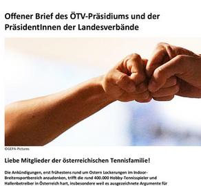 Offener Brief des ÖTV-Präsidiums