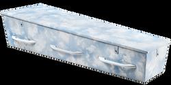Gewatteerde kist, hemelsblauw met zachte witte wolken KA-CL