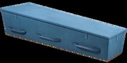Gewatteerde kist, denimblauw LI-ZB