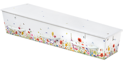 Gewatteerde kist, dessin veldbloemen KA-JV