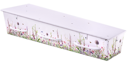Gewatteerde kist, dessin wilde bloemen KA-JL